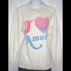 Wildfox J'Amore Ombre Rainbow Sweatshirt Jumper S